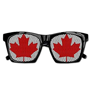 Canadian Flag Canada Maple Leaf Unisex Polarized Party Sunglasses Resin Frame Eyewear Favor Mesh Lens Sun Glasses