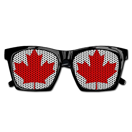 Canadian Flag Canada Maple Leaf Unisex Polarized Party Sunglasses Resin Frame Eyewear Favor Mesh Lens Sun - Sunglasses Canadian