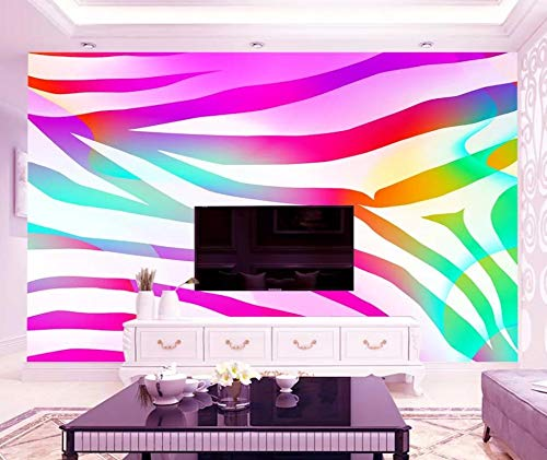 Wall Mural 3D Zebra Pattern Laser Gradient Abstraction Modern Custom Photo Wallpaper Murals Wall Decor