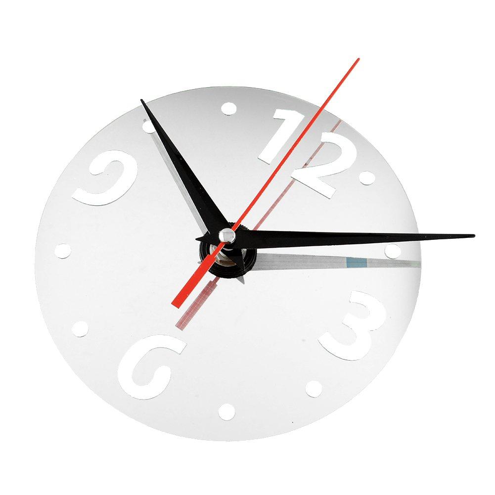 Horloge décorative horloge murale miroir ronde stickers muraux diy ...
