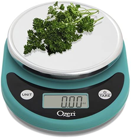 Ozeri ZK14-T Pronto Digital Multifunction Kitchen and Food Scale, Compact, Teal Blue