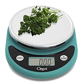 Ozeri Pronto Digital Multifunction Kitchen and Food Scale, Compact, Teal Blue