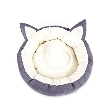 FOONEE Cama para Mascotas para Gatos Perros Redondo Donut Gato y Perro cojín Cama con cojín extraíble Acogedor para un sueño Mejorado, para Perros medianos ...