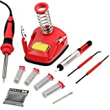 Hi-Spec All-In-One 30W Soldering Station inc. Soldering Iron, Helping Hands & 9pc Accessory Set - Desoldering Pump, Tin Alloy Solder, De-Solder Alloy & 2pc Solder Assist Tools
