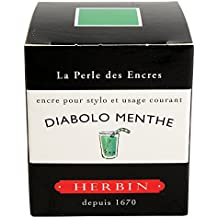 J. Herbin Fountain Pen Diabolo Menthe Bottled Ink 30 ml