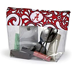 Alabama Crimson Tide Clear Gameday Travel Pouch Bag