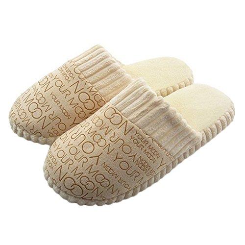 Chaussons Couple Chaleureux Pantoufles Motif Glitter avec qn0OBf
