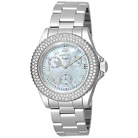 Invicta Women's 17411 Angel Quartz Chronograph White Dial Watch - Chronograph White Dial