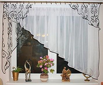 Amazonde Sehr Schöne Fertiggardine Gardine Stores Neu Vorhang