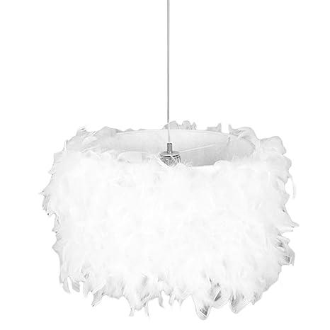 Amazon.com: LEDMOMO Feather Ceiling Pendant Light Shade ...