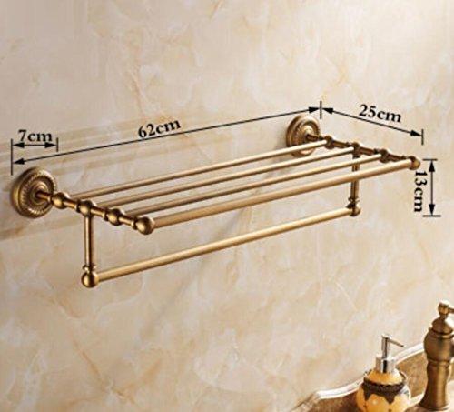 GL&G European retro Towel Holders Gold luxury Wall-Mounted Towel Racks for Bathroom Storage & Organization Shelf Home Decoration 62cm,B by GAOLIGUO (Image #6)