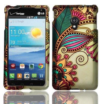 For LG Lucid 2 VS870 Hard Design Cover Case Antique Flower Accessory (Lg Lucid 2 Phone Cases)