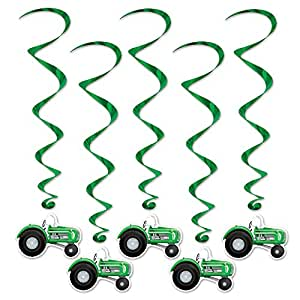 Beistle 57555 5-Pack Tractor Whirls, 3-Feet 4-Inch (Value 3-Pack)
