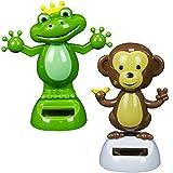 Solar Powered Dancing Monkey & Frog (12 Pack)
