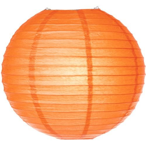 Luna-Bazaar-Paper-Lanterns-6-Inch-Parallel-Style-Ribbed-Orange-Set-of-5-Rice-Paper-ChineseJapanese-Hanging-Decoration-For-Home-Decor-Parties-and-Weddings