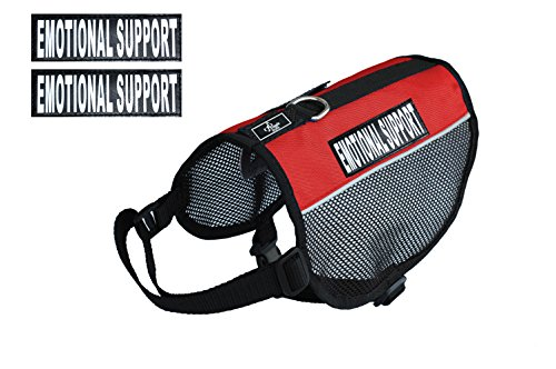 (Emotional Support Service Dog mesh Vest Harness Cool Comfort. Purchase Comes with 2 Reflective Emotional Support pathces. Please Measure Your Dog Before Ordering (Girth 15-20