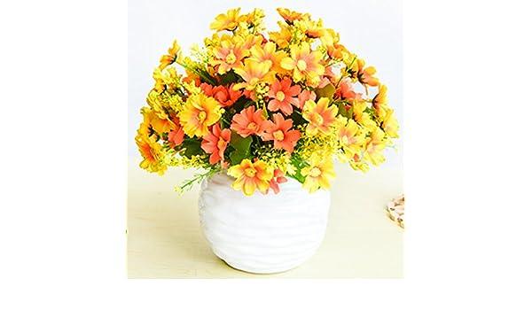 Flores artificiales falsas, 4 piezas, orquídeas, arreglos para el ...