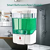 Svavo Soap Dispenser, Electric Automatic Soap Dispenser Touchless Wall Mounted for Bathroom 600ml white, pack of 1