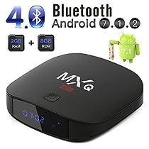 2018 Leelbox MXQ Mini Android 7.1 TV Box with 2GB+8GB BT 4.0 Support 4K (60Hz)/H.265/WiFi