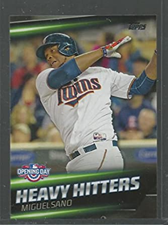 Amazoncom 2016 Topps Opening Day Heavy Hitters Hh 5 Miguel Sano