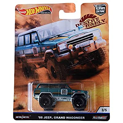 Hot Wheels Car Culture Desert Rally '88 Jeep Grand Wagoneer 3/5, Teal: Toys & Games