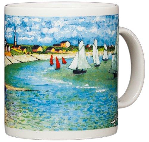 Claude Monet - The Beach at Saint-Adresse - 14oz Coffee Mug