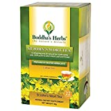 Buddha's Herbs Pure St John Wort's Flower Tea - 22-Count Tea Bags (2 Pack) - 100 % Natural