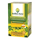 Buddha's Herbs Pure St John Wort's Flower Tea - 22-Count Tea Bags (2 Pack) - 100% Natural