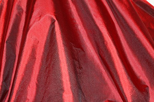 (Burgundy Tissue Taffeta Silk, 100% Silk Fabric, By The Yard, 44