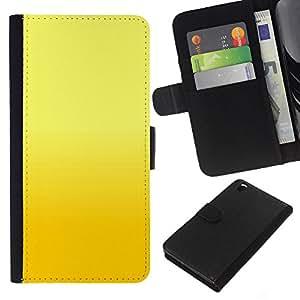 Planetar® Modelo colorido cuero carpeta tirón caso cubierta piel Holster Funda protección Para HTC DESIRE 816 ( Yellow background )