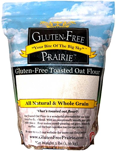 - Gluten Free Prairie Toasted Oat Flour 3 Pound (Pack of 1), Certified Gluten Free, All Natural, Whole Grain, Vegan, Low Glycemic, Heart Healthy, High in Protein and Fiber
