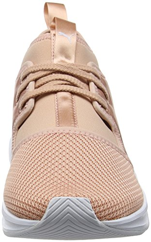 Satin Phenom puma Cross White Beige para Puma Beige de Low Wn's Peach Zapatillas EP Mujer T1WEdpq