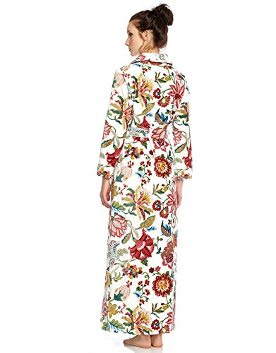 1643d8240a Long Women s Turskish Terry Cotton Bath Robe - Toweling with Belt - Floral  - Cinderella