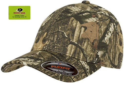 Flexfit Fitted Low Profile Mossy Oak Camo Cotton Hat With Curved Visor – L/XL (Infinity) (Profile Camouflage Cap)
