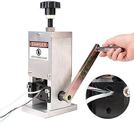 FIXKIT Máquina Pelacables Manual Cable Stripping Machine Φ1.5mm-Φ25mm Máquina de Desmontaje del Alambre de la Lámina Herramienta Manual de la Manivela