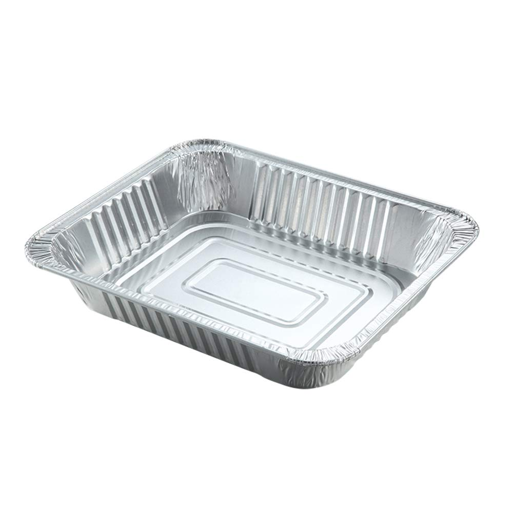 9 x 13 Aluminum Foil Pans Disposable Cookware for Cooking Lasagna, Baking Cake and Roasting in Oven, 20 Pack