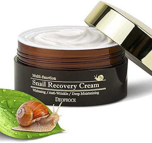 Multifunction Snail Repair Anti Aging Moisturizer Whitening Cream – Deeply Moisturised, Youthful & Glowing Skin– Snail Mucin Extract Slime- Nourishing & Anti Wrinkle Face Cream