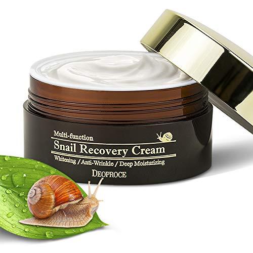 Multifunction Snail Repair Anti Aging Moisturizer Whitening Cream – Deeply Moisturised, Radiant, Youthful & Glowing Skin– Snail Mucin Extract Slime- Nourishing & Anti Wrinkle Face Cream