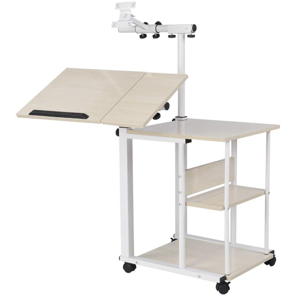 ZHEDAN Einstellbarer Laptop-Schreibtisch Tragbarer Laptop-Tischst/änder Fauler Tisch Schreibtischst/änder Rollbares Tablett Schlafsofa St/änder F/ür Laptop-Computer Notebook F/ür Schlafsofa
