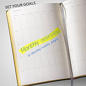 Personal Daily Planner Organizer Will Help You to Keep Work-Life Balance & Achieve a Little More Goals - NO DATES Calendar Planner ( 8,5 X 5,7 ) - Diary Notebook for Man and Women 2017 / 2018 / 2019