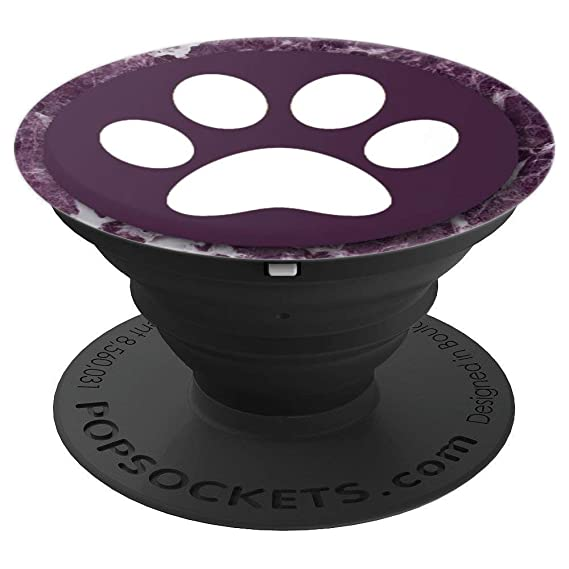 Amazon Com Purple Marble Paw Print Design Gift For Dog Lover On