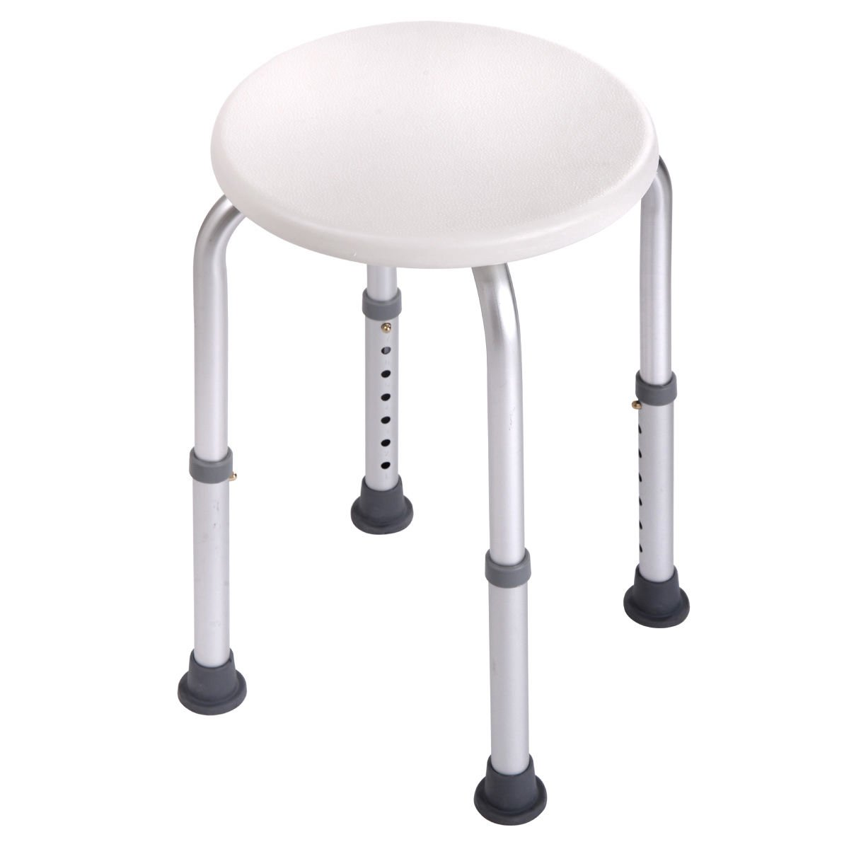 7 Height Adjustable Medical Bath Shower Stool Chair Bath Tub Seat in White New