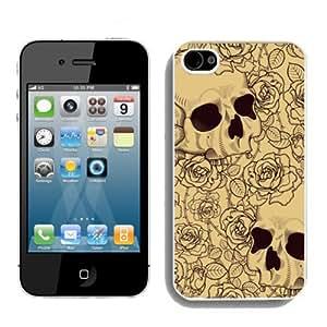 Customized Skull Diy Iphone 4/4s hard Case VY116209