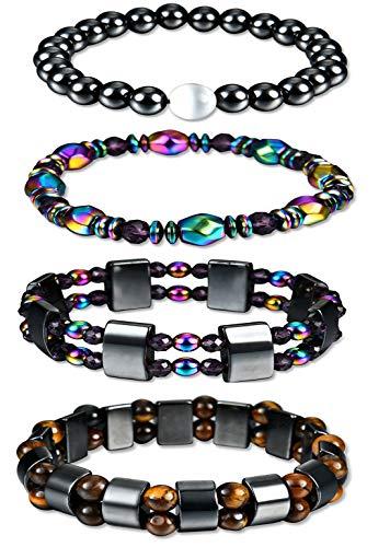 Yuan Bo Hematite Bracelet Men Women Evil Eye Bangle Bracelet Energy Magnetic Tiger Eye Therapy Bracelets