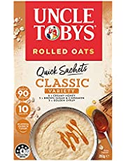 UNCLE TOBYS Oats Quick Sachets Classics Variety Pack, 10 Sachets