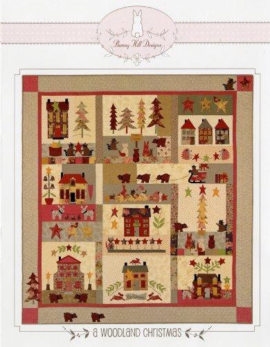 Bunny Hill Design A WOODLAND CHRISTMAS BOM BHD2081 Pattern Set (Designs Hill Pattern Quilt Bunny)