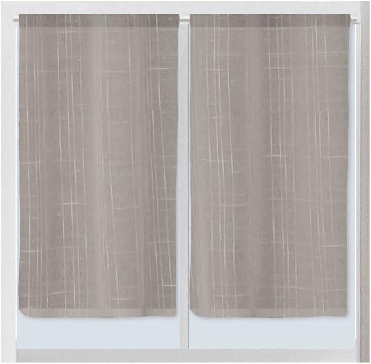 Bianco /Coppia di in poliestere,Lino//Poliestere 45/x 90/cm Soleil d Ocre 042670/Linen/ 45 x 90 cm
