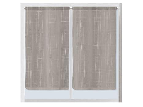 Tende Per Interni Color Tortora : Soleil docre 042671lino paio di tende parafreddo inlino poliestere
