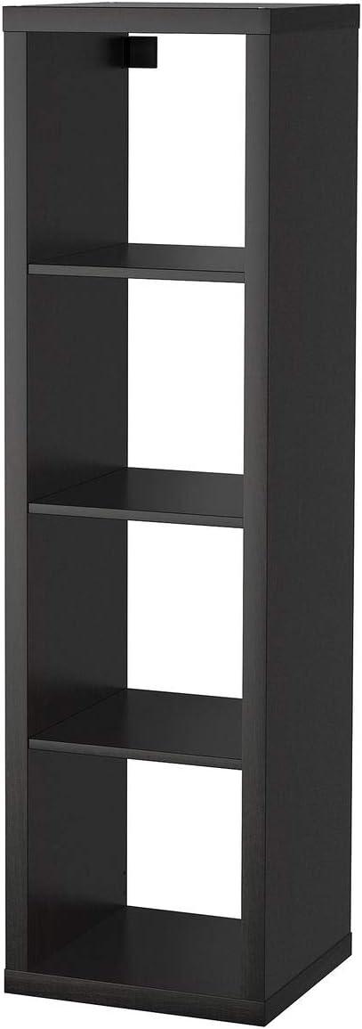 Estantería IKEA KALLAX negro-marrón (42x39x147 cm) 4 estantes ...