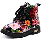 Morecome Girls Fashion Floral Martin Boots Baby Kids Casual Boots
